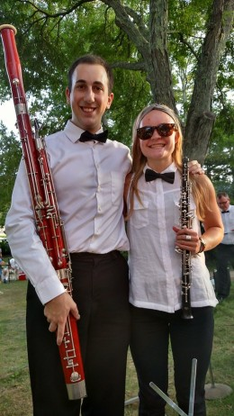With a former oboe student, who is currently a Music Education and Oboe major at the University of Southern Maine.