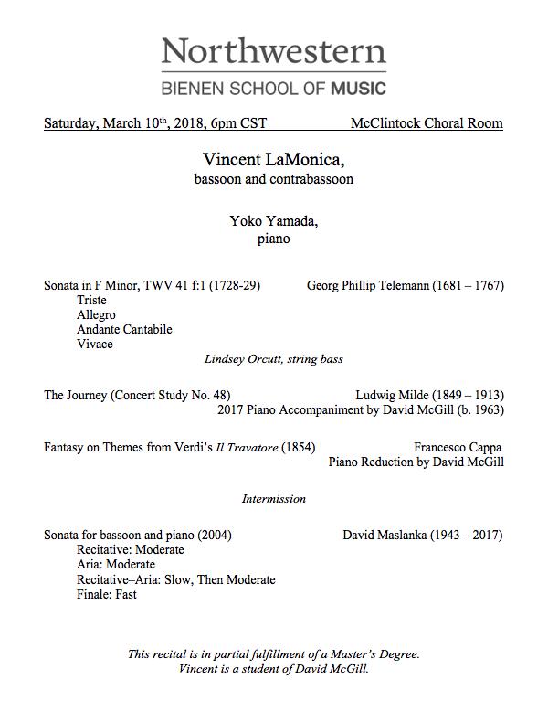 MM Recital 1 Program