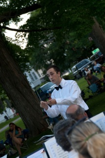 Conducting the East Woodstock Cornet Band. Vincent guest conducted the ensemble in 2013, and served as an assistant conductor in the 2014, 2015, and 2016 seasons.
